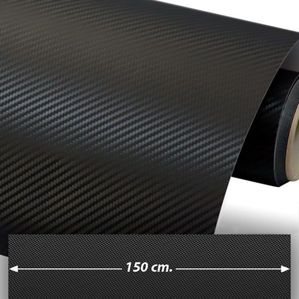 Car and Motorbike Stickers: Carbon fiber vinyl wrap 150cm