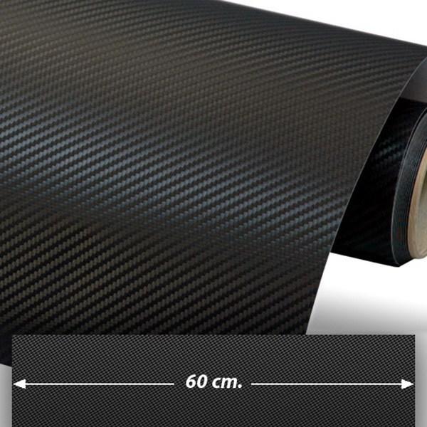 Car and Motorbike Stickers: Carbon fiber vinyl wrap 60cm