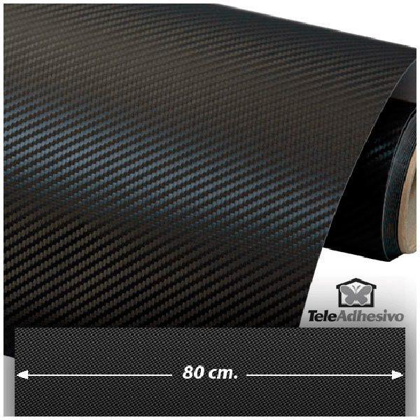 Car and Motorbike Stickers: Carbon fiber vinyl wrap 80cm