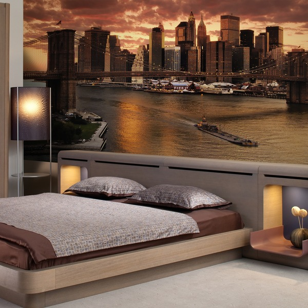 Wall Murals: Sunset in New York