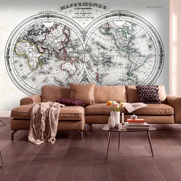 Wall Murals: World Map 3