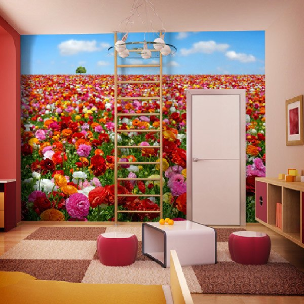 Wall Murals: Flower Field
