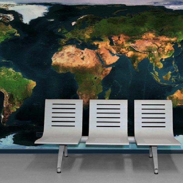 Wall Murals: Satellite view