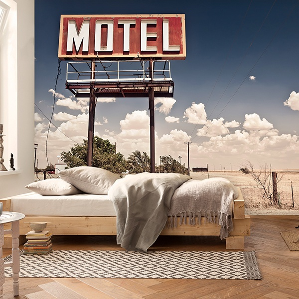 Wall Murals: Motel on Route 66