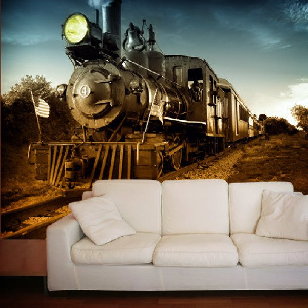 Wall Murals: Vintage Locomotive