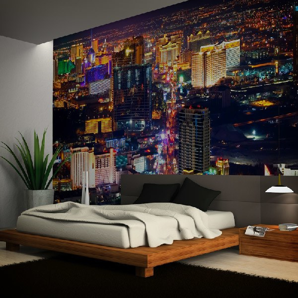 las vegas at night las vegas murals editorial stock photo image 45024383