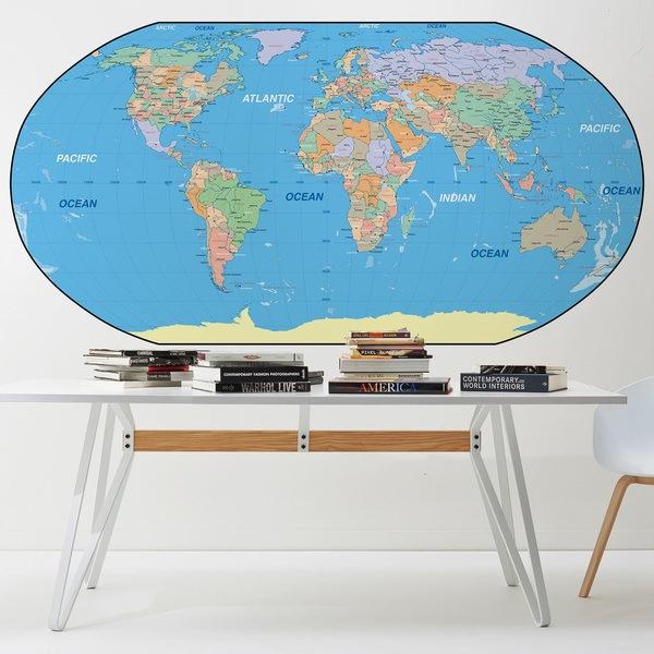 Wall Murals: World Map