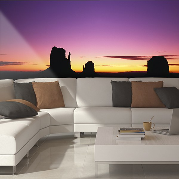Wall Murals: Sunset in the West