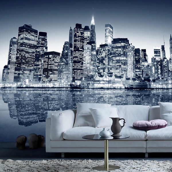 Wall Murals: Blue Night Manhattan