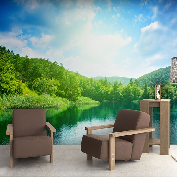 Wall Murals: Lake in the mountains