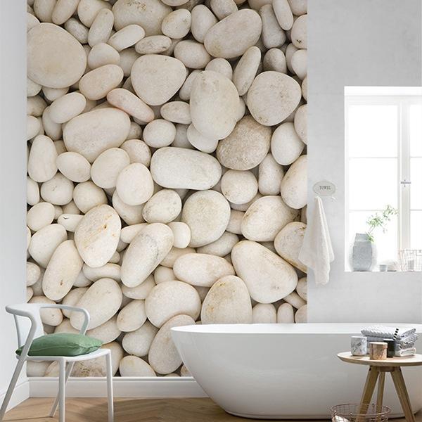 Wall Murals: White stones