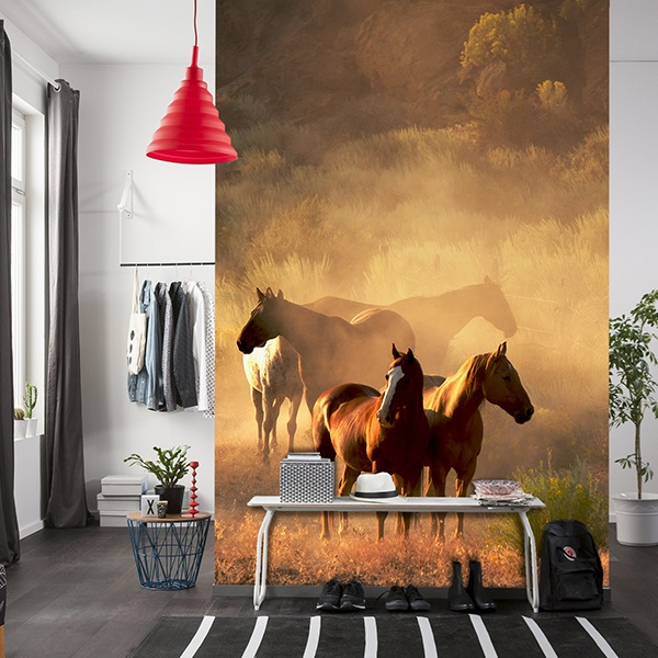 Wall Murals: Herd of Horses