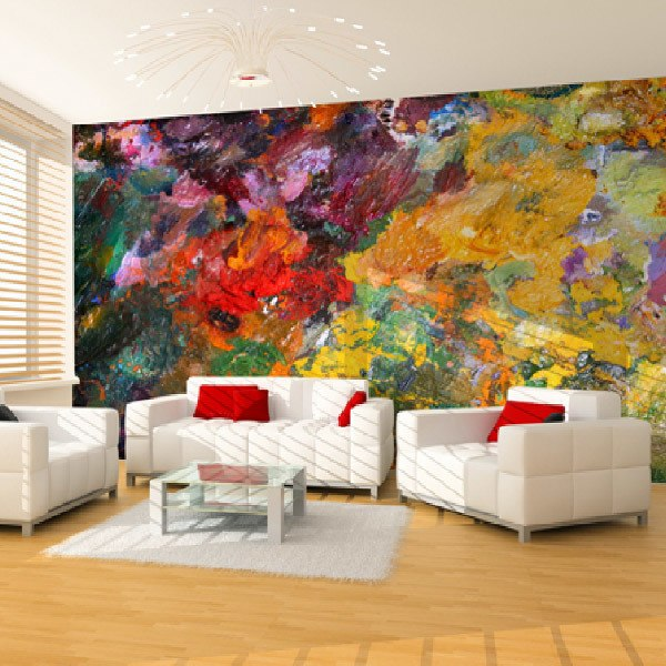 Wall Murals: Colourful