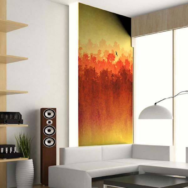 Wall Murals: Watercolor landscape
