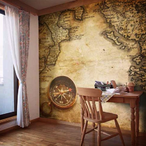 Wall Murals: Compass