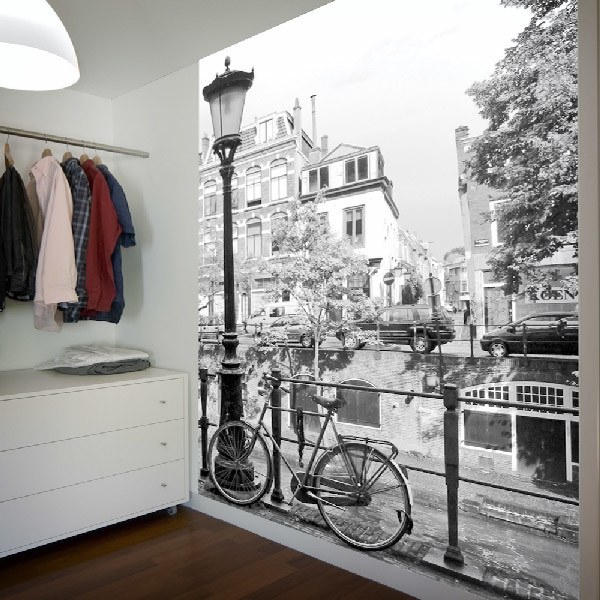 Wall Murals: Bike and lamppost