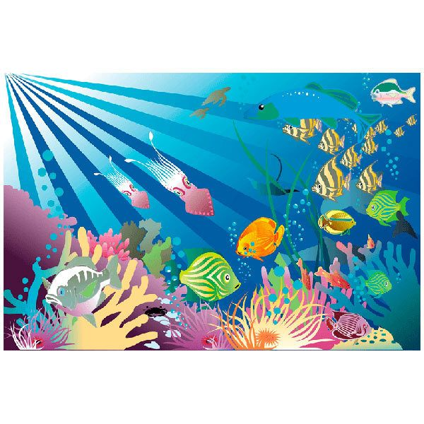 under the sea wall murals