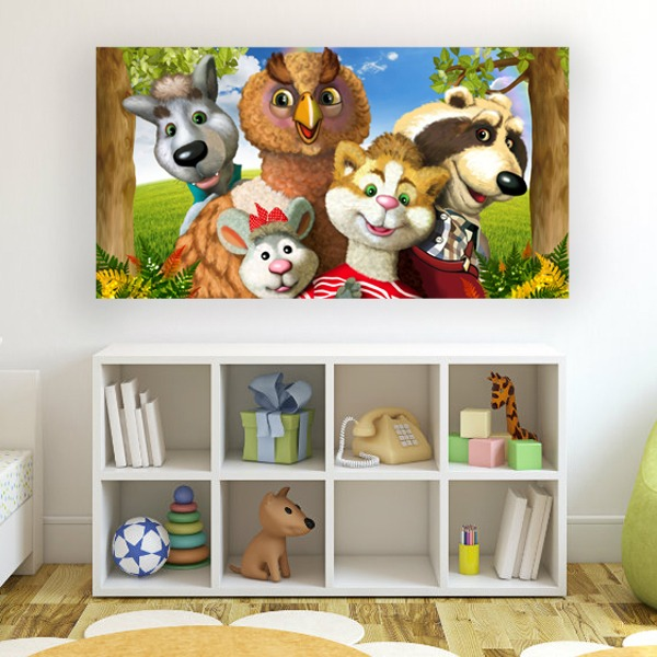 Wall Murals: Posse forest animals