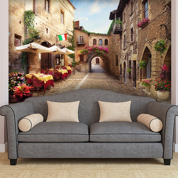 Wall Murals: Italian village