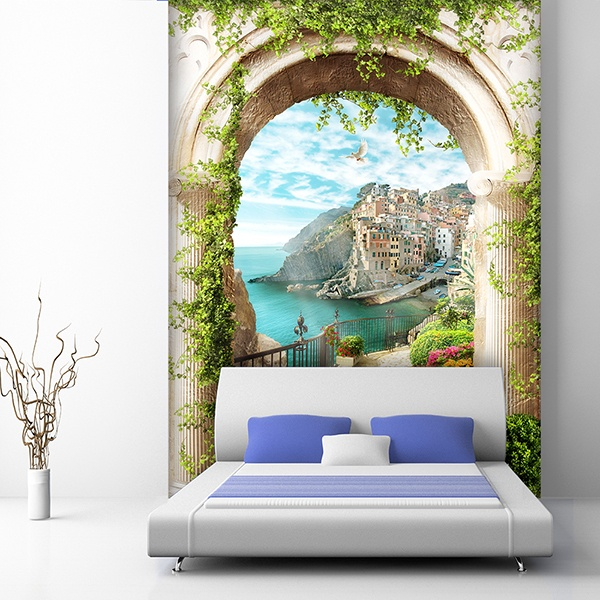 Wall Murals: Arch to Mediterranean village