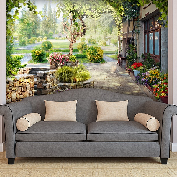 Wall murals of rural landscapes for Cypress gardens mural