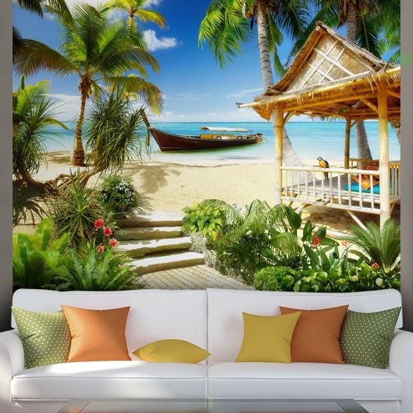 Wall Murals: Caribbean Beach