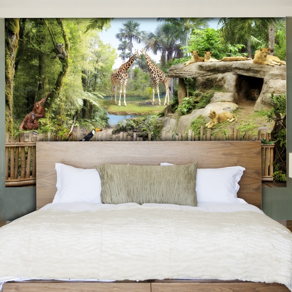 Wall Murals: Jungle animals