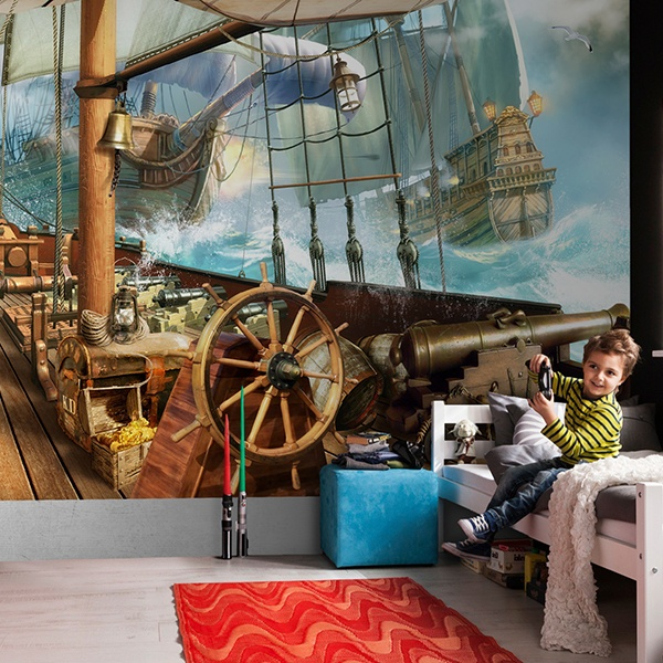 Wall Murals: Naval battle