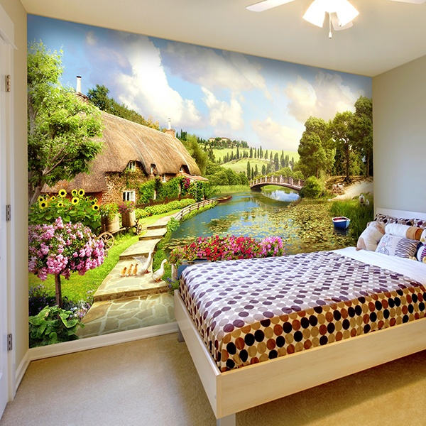 Wall Murals: Country paradise
