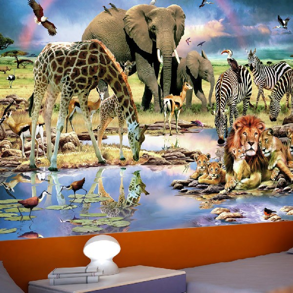 animal wall murals animal wall murals