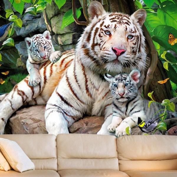 Wall Murals: Albino tigers