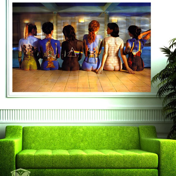 Wall Stickers: Pink Floyd covers discs