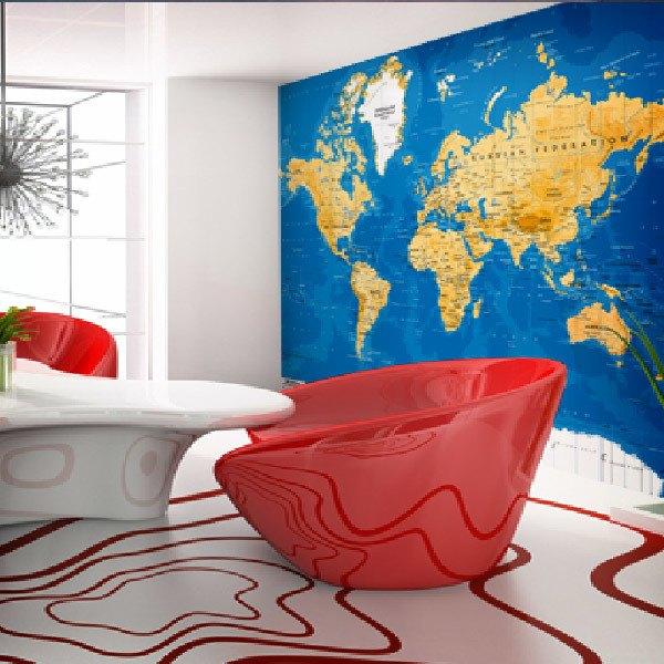 Wall Murals: World Map 4
