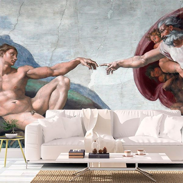 Wall Murals: Creation of Adam_Michelangelo