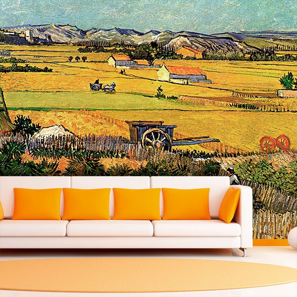 Wall Murals: Harvest at la Crau_Van Gogh