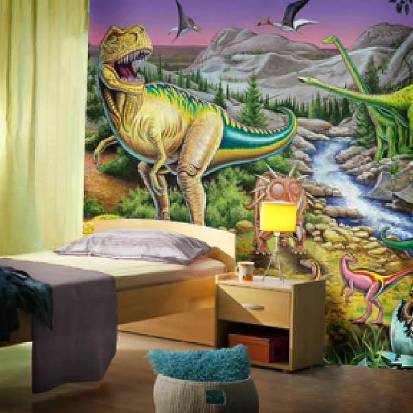 Wall Murals: Jurassic Valley