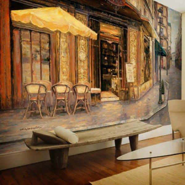Wall Murals: Red House Cafe (Haixia Liu)