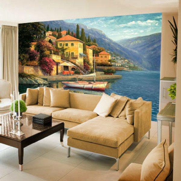 Wall Murals: Lake Como Blossom (Haixia Liu)