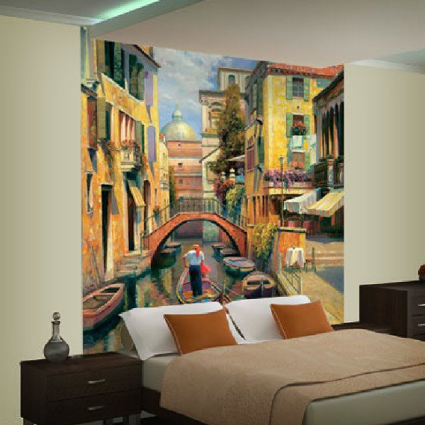 Wall Murals: Sunday in Venice (Haixia Liu)