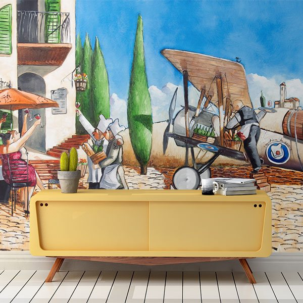 Mural illustrations for Aviation wall mural