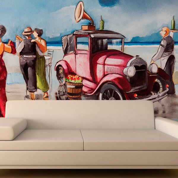 Wall Murals: Dancing on the beach