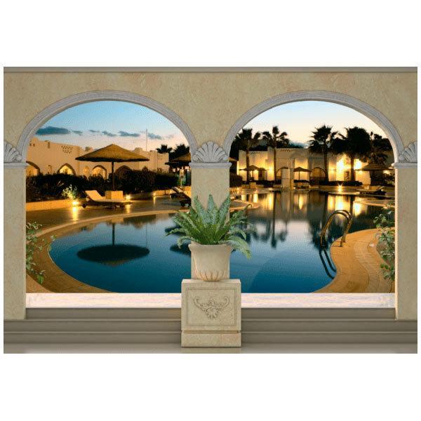 Wall Murals: Luxury hotel pool