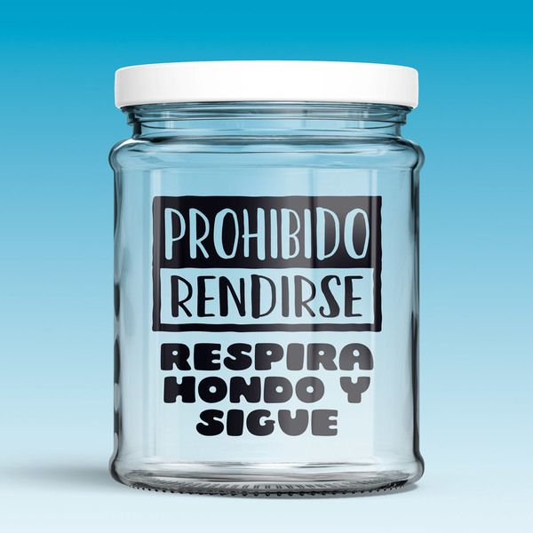 Wall Stickers: Prohibido rendirse, respira hondo y sigue