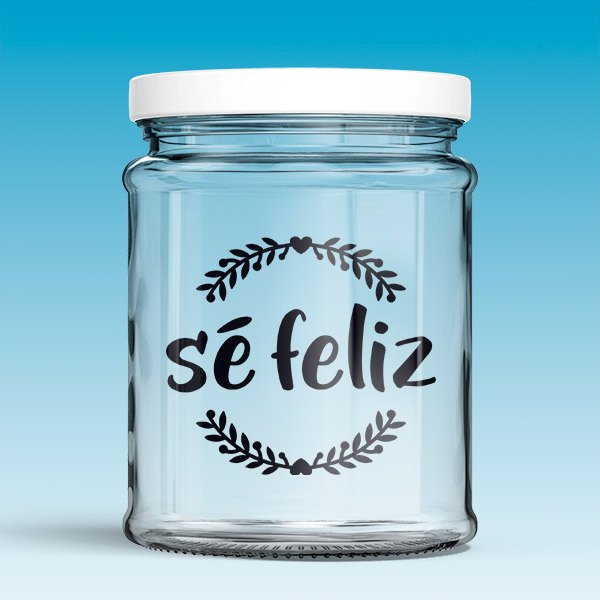 Wall Stickers: Sé feliz