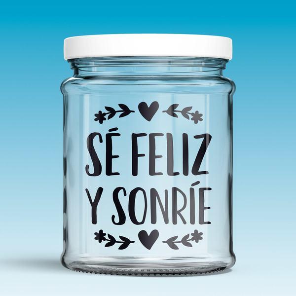 Wall Stickers: Sé feliz y sonríe
