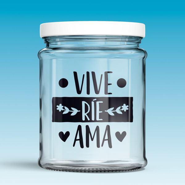Wall Stickers: Vive, ríe, ama