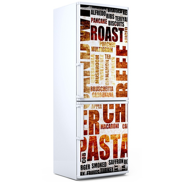 Wall Stickers: Typographic Food