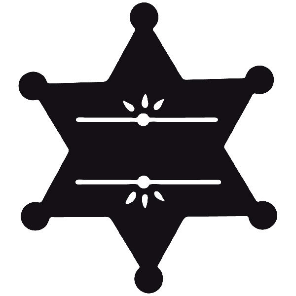 Car and Motorbike Stickers: Far west 13