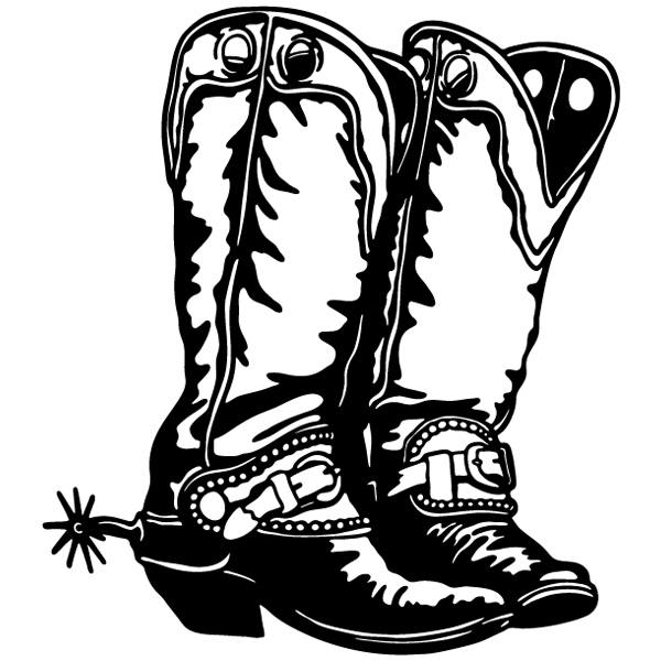 Car and Motorbike Stickers: Far west 16