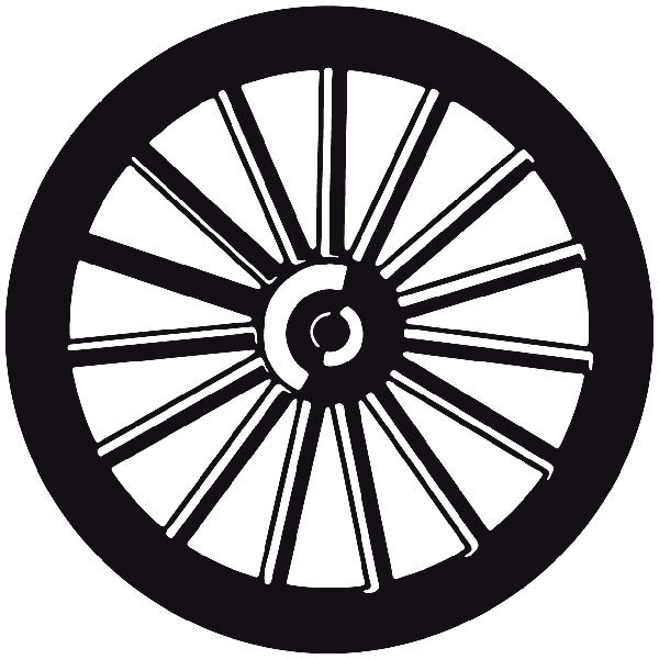 Car and Motorbike Stickers: Far west 27